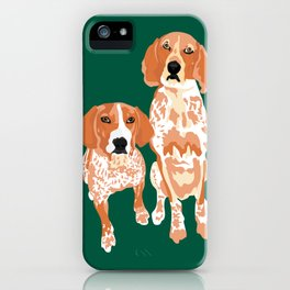 Gracie and George iPhone Case
