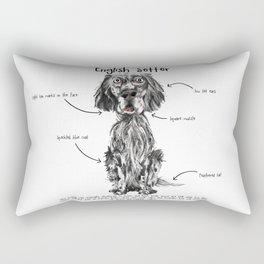 E is for English Setter Rectangular Pillow