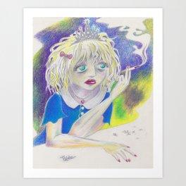 Courtney Love, Old-Skool Art Print