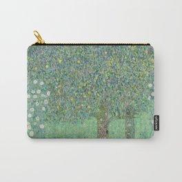 Gustav Klimt - Rosebushes under the Trees Carry-All Pouch