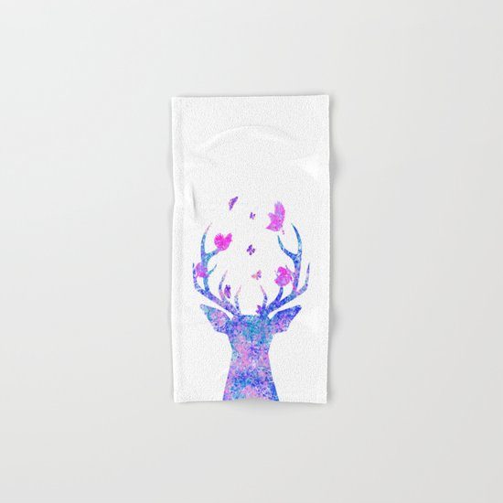 Flying Amongst the Antlers  Hand & Bath Towel