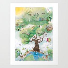 Ideal World Art Print