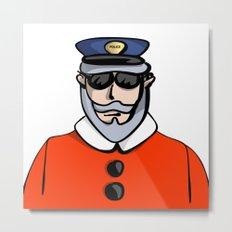 Santa Cop Metal Print