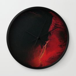 Black Lava on White Wall Clock