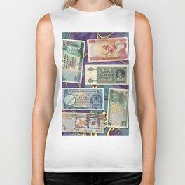 Money-Collage Biker Tank
