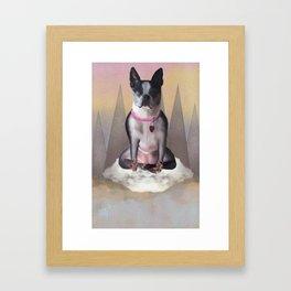 Zen Terrier Framed Art Print