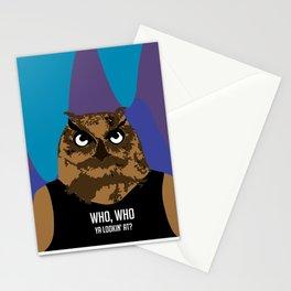 Hoot, Hoot, Who? Stationery Cards