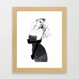 'Gloves'  Illustration Framed Art Print