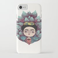 frida iPhone & iPod Cases featuring frida by yohan sacre