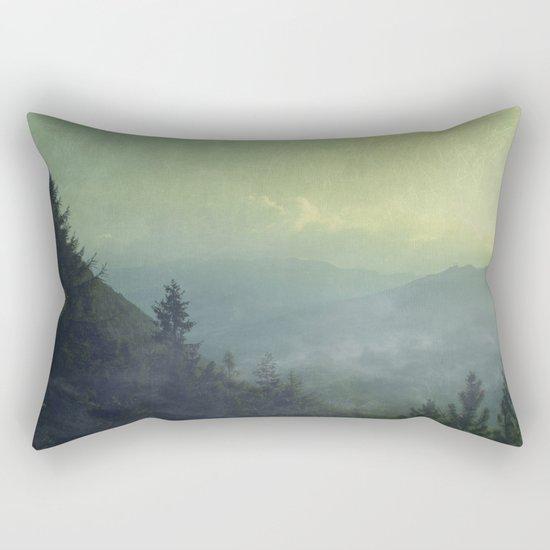 Mist over valley - view of Valmalenco / Italy Rectangular Pillow