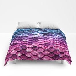 Mermaid Tail Pink Purple Blue Comforters
