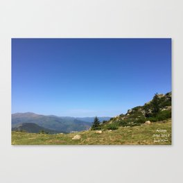 View on the summits Canvas Print