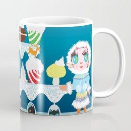 Christmas with Fashionista cats. Coffee Mug