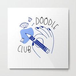 Doodle Club Hand Metal Print