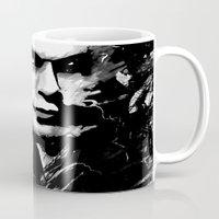 dexter Mugs featuring Dexter by RebeccaWeaver