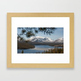 Icy river in Norway Framed Art Print