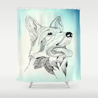 jack nicholson Shower Curtains featuring Jack. by Yana C.
