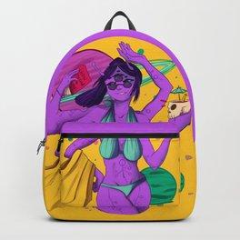 Aesthetic Beach Alien girl Backpack