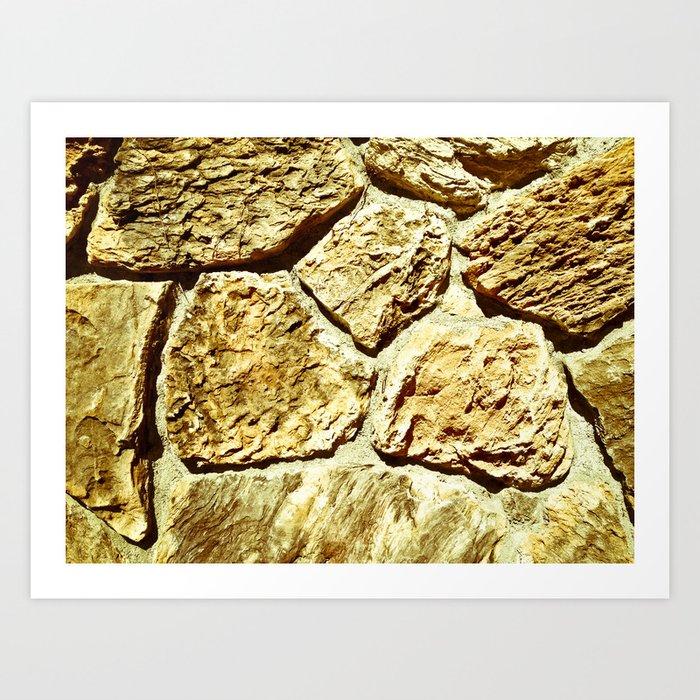 Stone Texture Art Print