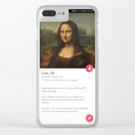 Lisa, 34. Clear iPhone Case