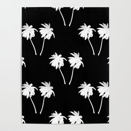 Palm Trees Tropical Night Poster