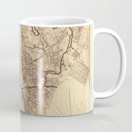 Map Of Moscow 1739 Coffee Mug