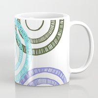 bianca green Mugs featuring Bianca Circle by Ellie And Ada