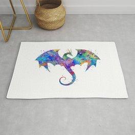 Dragon Colorful Watercolor Art Rug