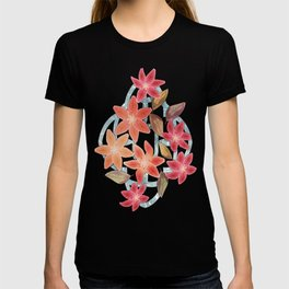Cute Lilies and Leaves T-shirt