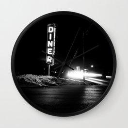Roadside Diner Wall Clock