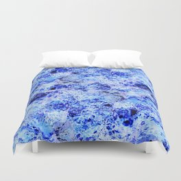 Alien Water - Abstract, crazy, textured, blue design Duvet Cover