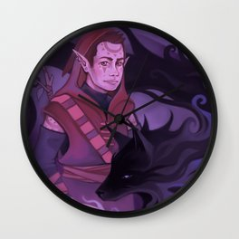 Shadow of the Wolf Wall Clock