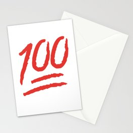 Keep It 100 One Hundred Funny sayings quotes Stationery Cards