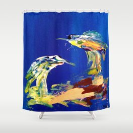 Abstract (Two Birds) Shower Curtain