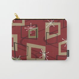 Mid Century Modern Maroon Carry-All Pouch