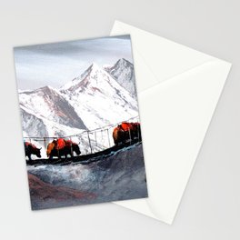 Herd Of Mountain Yaks Himalaya Stationery Cards