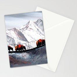 Herd Of Mountain Yaks Himalaya Stationery Cards