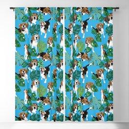 beagle tropical Blackout Curtain