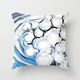 Abstract glossy white sphere Throw Pillow