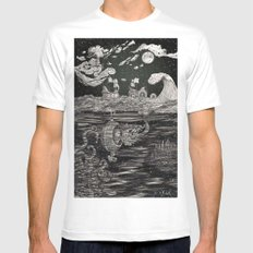 Jupiter's Guide For Submariners MEDIUM White Mens Fitted Tee