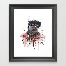 The Notorious B.I.G. aka Biggie aka Frank White Framed Art Print