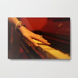Hand on a piano Metal Print