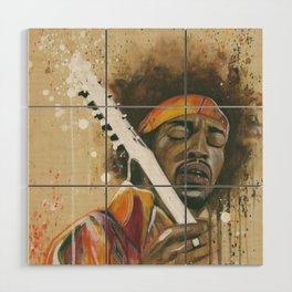 Jimi Hendrix Wood Wall Art