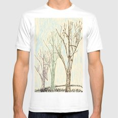 A Winters Sketch MEDIUM White Mens Fitted Tee