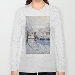 1869-Claude Monet-The Magpie -89 x 130 Long Sleeve T-shirt