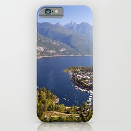 Village of Kaslo on Kootenay Lake iPhone Case
