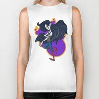 marceline Biker Tanks featuring Marceline by Silvering