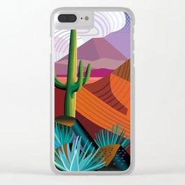 Thunderhead Builds in Arizona Desert Clear iPhone Case