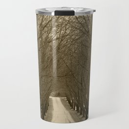 Tree Lined Road Travel Mug