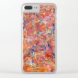 Orange Expression Clear iPhone Case